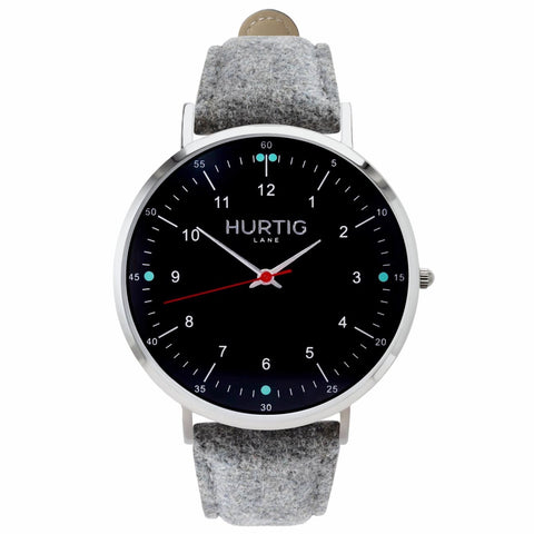 Moderno Mens Watch Tweed - Silver / Black / Grey - Watch