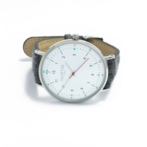 Moderno Mens Watch Tweed - Silver / White / Grey - Watch