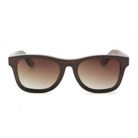 Monroe - Brown (Brown Fade) Bamboo Sunglasses - Sunglasses