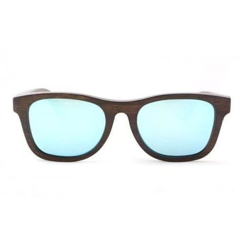 Monroe - Brown (Silver Revo) Bamboo Sunglasses - Sunglasses