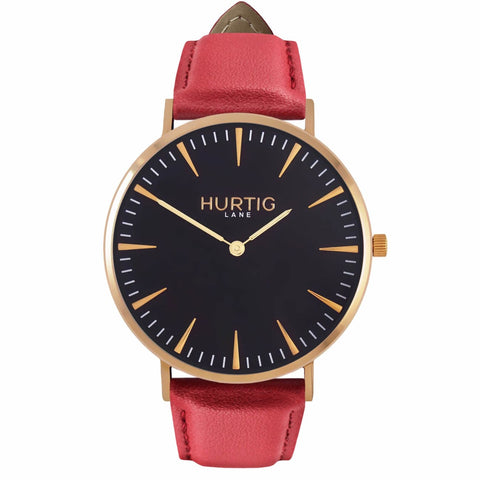 Mykonos Mens Watch - Gold / Black / Red - Watch