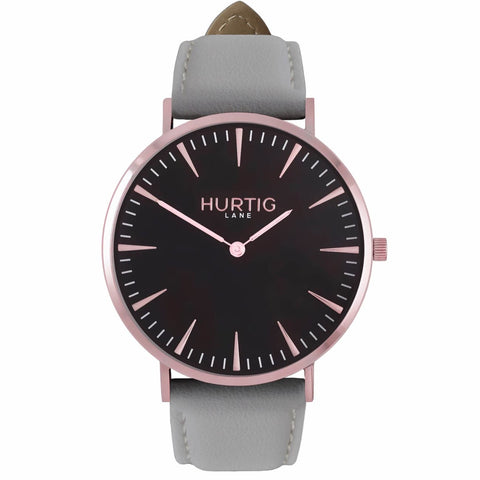 Mykonos Mens Watch - Rose Gold / Black / Grey - Watch