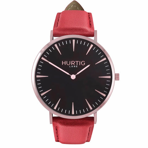 Mykonos Mens Watch - Rose Gold / Black / Red - Watch