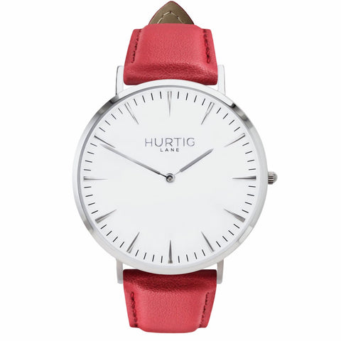 Mykonos Mens Watch - Silver / White / Red - Watch