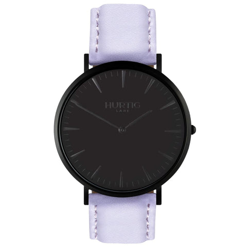 Mykonos Watch - Black / Black / Lilac - Watch