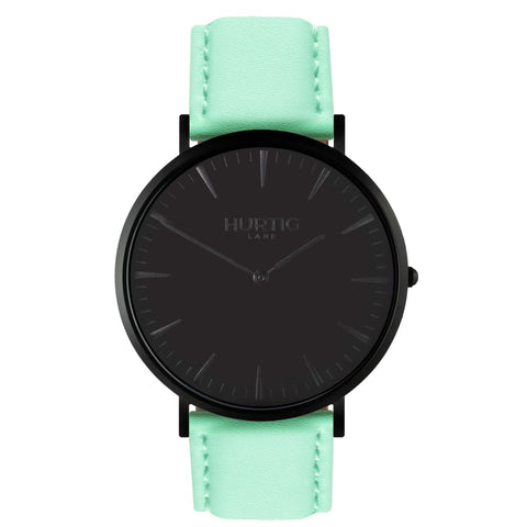 Mykonos Watch - Black / Black / Mint - Watch