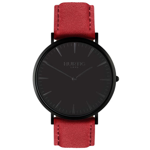 Mykonos Watch - Black / Black / Red - Watch