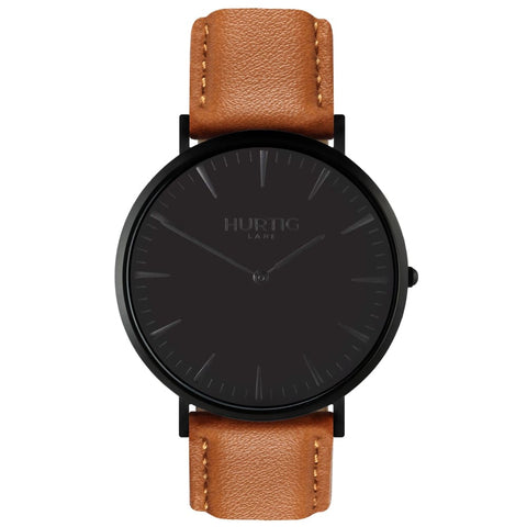 Mykonos Watch - Black / Black / Tan - Watch