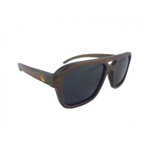 Nelson - Brown Bamboo Sunglasses - Sunglasses