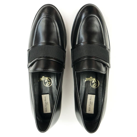 Ribbon Loafers - Black - Shoes