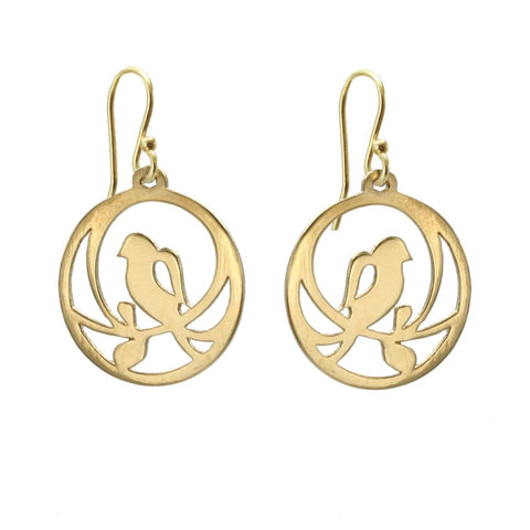 Single Bird Earrings - Gold Plated - Earrings
