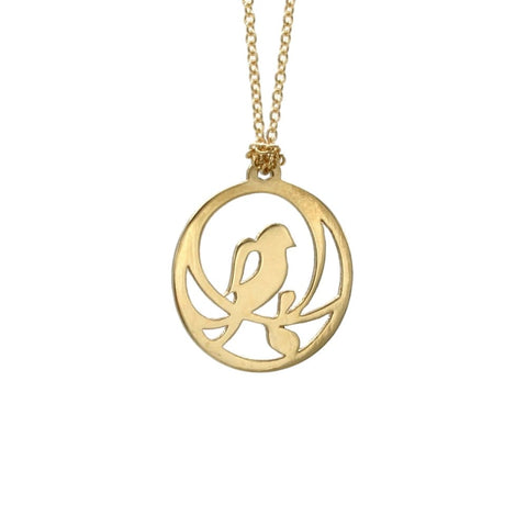 Single Bird Necklace - Gold Plated - Necklaces