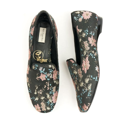Slip-On Loafers - Floral - Shoes