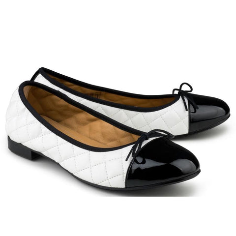 Suzy Ballerina Black/white - Shoes