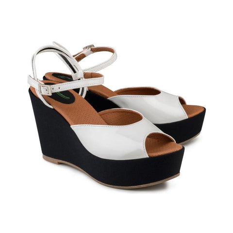 Victoria Wedge Sandal White - Sandals