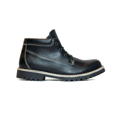 Womens Ankle Dock Boots - Black - Shoes