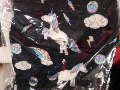 Leggings Buttery Soft Black Background Unicorns Full Length Plus Size (14-2X) - Ltd Edition Last One