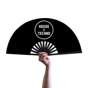 House x Techno Hand Fan