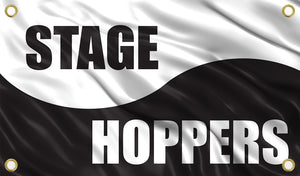 Yin Yang Stage Hoppers Flag