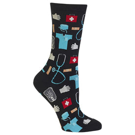 Medical Funny Worklife Womens Novelty Crew Socks