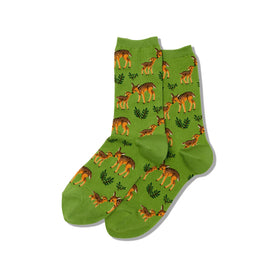 Mother Deer Funny Wildlife Womens Novelty Crew Socks