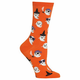 Cute Ghost Funny Holiday Womens Novelty Crew Socks
