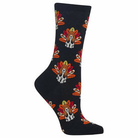 Turkey Dog Funny Turkeys Womens Novelty Crew Socks