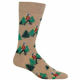 Hiker Funny Outdoors Mens Novelty Crew Socks