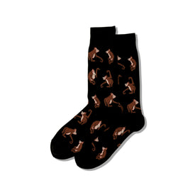 Orangutans Funny Wildlife Mens Novelty Crew Socks
