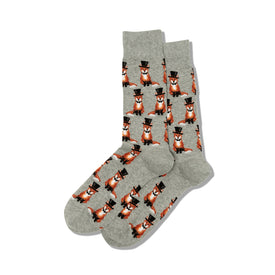 Foxy Groom Funny Wedding Mens Novelty Crew Socks