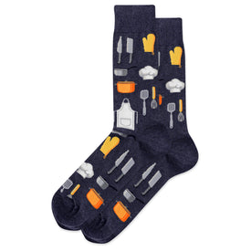Chef Funny Worklife Mens Novelty Crew Socks