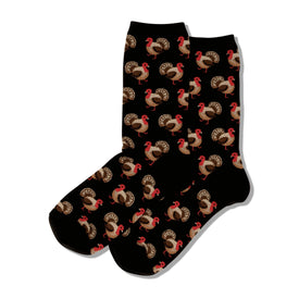 Turkey Funny Wildlife Womens Novelty Crew Socks