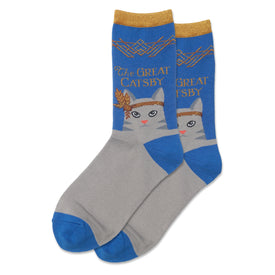 The Great Catsby Funny Punny Womens Novelty Crew Socks