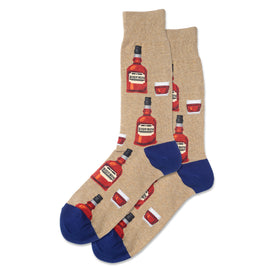 Bourbon Funny Food & Drink Mens Novelty Crew Socks
