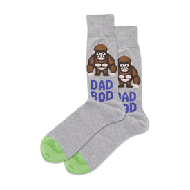 Dad Bod Funny Words Mens Novelty Crew Socks