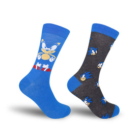 Sonic The Hedgehog 2 Pack Funny Video Games Mens Novelty Crew Socks