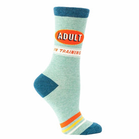 Adult In Training Funny Words Womens Novelty Crew Socks