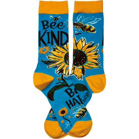 Bee Kind Funny Words Womens Novelty Crew Socks