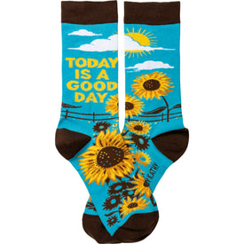 Today Is A Good Day Funny Words Womens Novelty Crew Socks