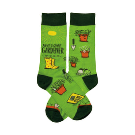 Awesome Gardener Funny Spring Womens Novelty Crew Socks