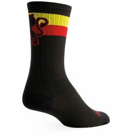 Belgie Lion SGX Funny Sports Mens Novelty Crew Socks