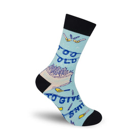 Too Old To Give A Shit Funny Words Unisex Novelty Crew Socks