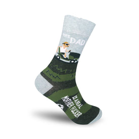 This Dad Is A Real Mother Fucker Funny Words Mens Novelty Crew Socks