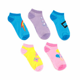 My Little Pony 5 Pack Funny Pop Culture Womens Novelty Ankle Socks
