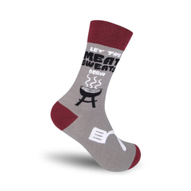 Let The Meat Sweats Begin Funny Words Mens Novelty Crew Socks