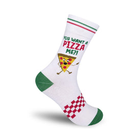 You Want A Pizza Me Funny Words Unisex Novelty Crew Socks