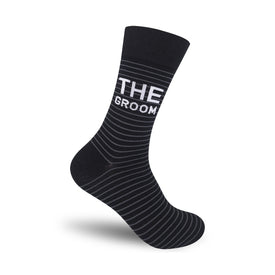 The Groom Funny Words Mens Novelty Crew Socks