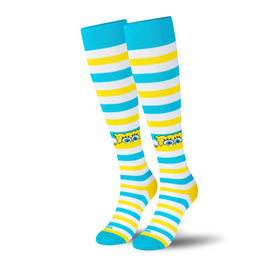 Spongebob Peek Compression Funny Pop Culture Unisex Novelty Knee High Socks