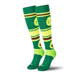 Avocado Compression Funny Vegetables Unisex Novelty Knee High Socks