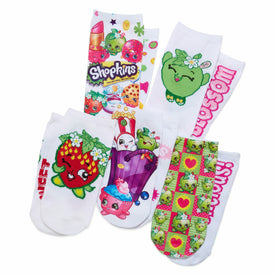 Shopkins Characters 5 Pack Funny Pop Culture Kids Novelty Ankle Socks